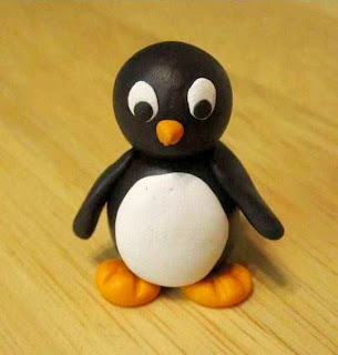Cara Membuat Kerajinan Tangan Untuk Anak SD, Pinguin Dari Plastisin 9