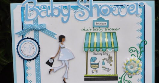 Baby Boy Shower Card- Cricut