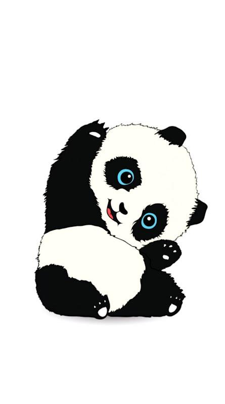 Panda Cute Desktop Hd Wallpapers Plain