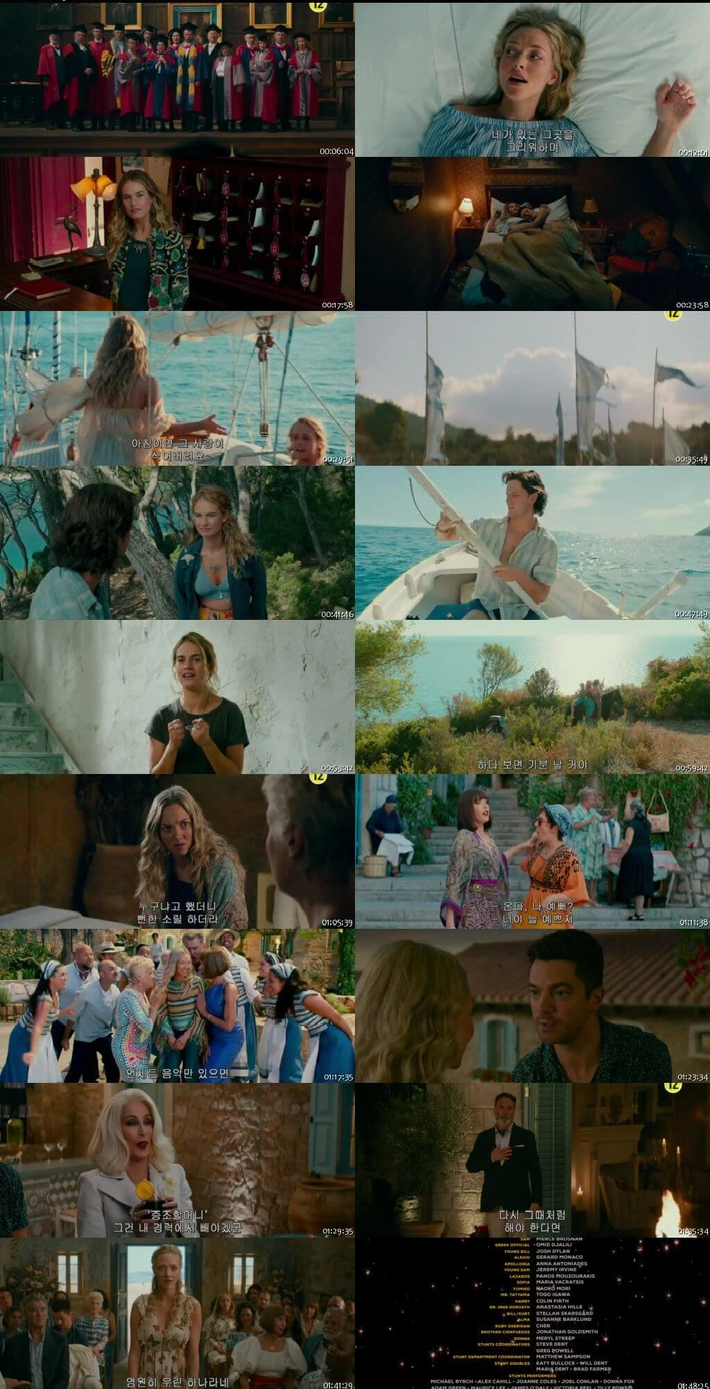 Screen Shot Of Mamma Mia! Here We Go Again 2018 Full Movie Download Free Watch Online 300MB