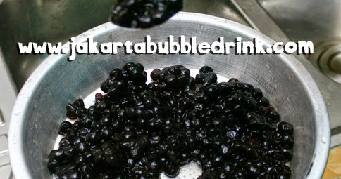 Jakarta Bubble Drink: Cara Masak Tapioca Pearl / Bubble hitam