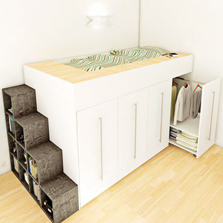 sp cial petits espaces 30 solutions gain de place blog d co mydecolab. Black Bedroom Furniture Sets. Home Design Ideas