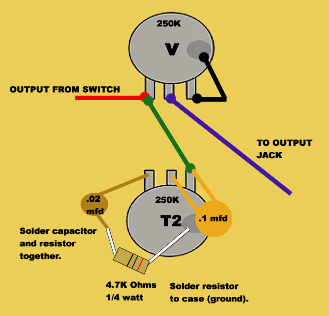 fender telecaster grease bucket wiring diagram
