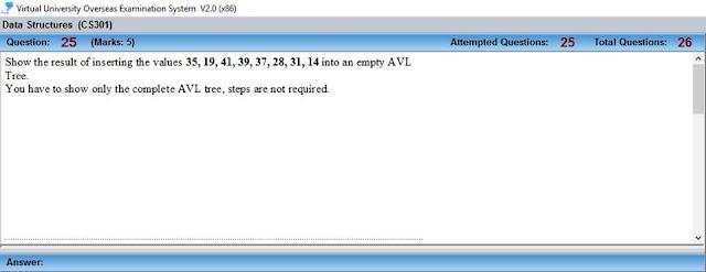 CS301 Current Mid Term Paper Question no 10