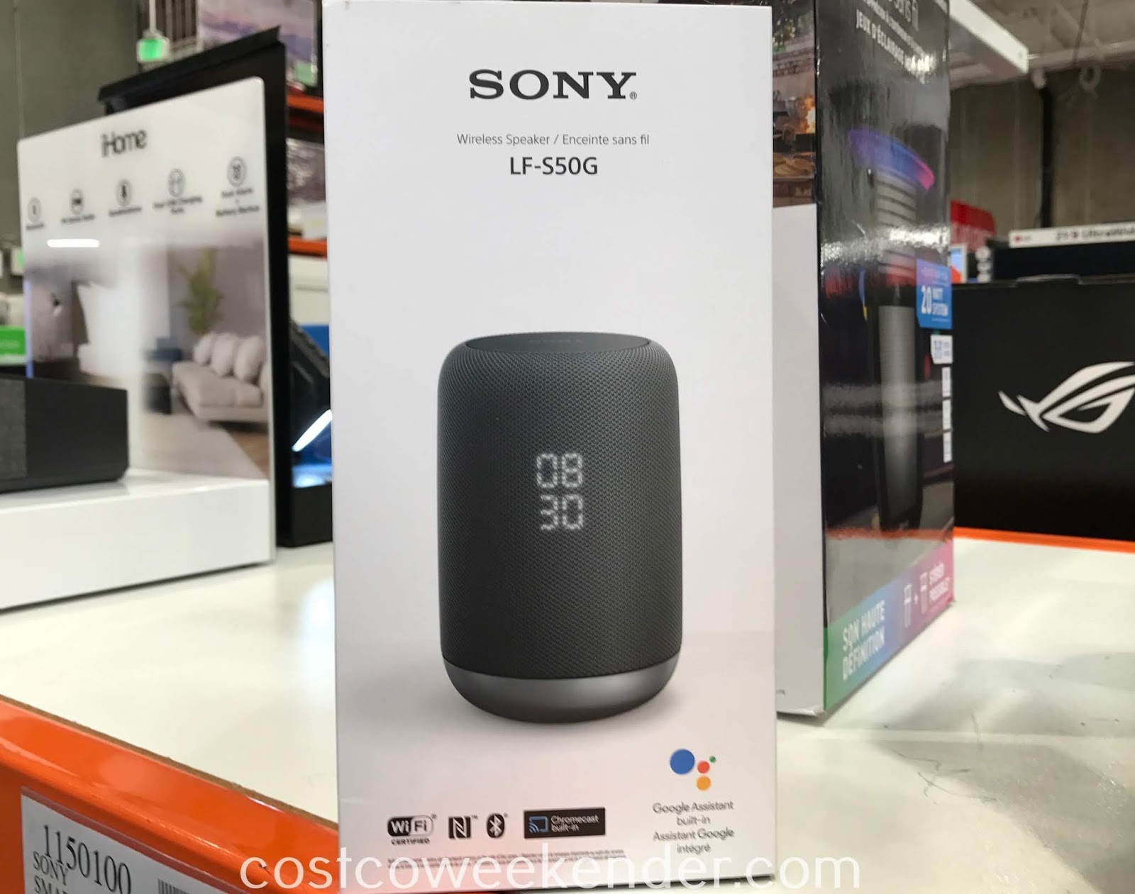 You get powerful sound in a small package with the Sony Smart Voice Wireless Speaker LF-S50G