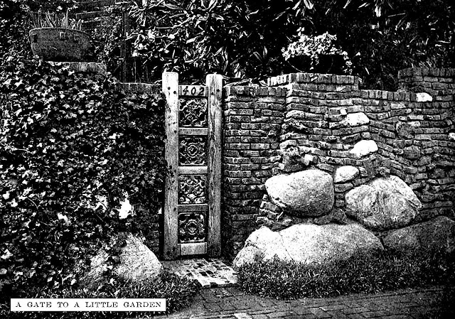 photo of tiny garden gate