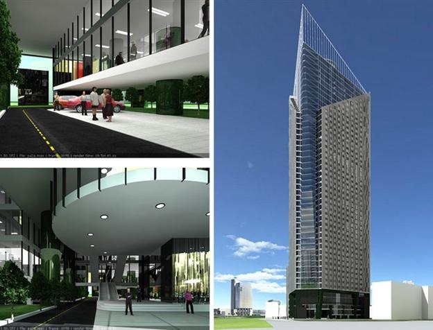 Sảnh chờ chung cư tháp doanh nhân - Boss Tower