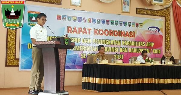 Buka Rakor SPIP, Gubernur Irwan: Pengawasan Dilakukan Sejak Perencanaan