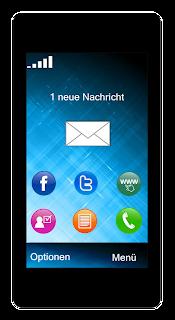 Handy Schiebekarte: Displaygrafik