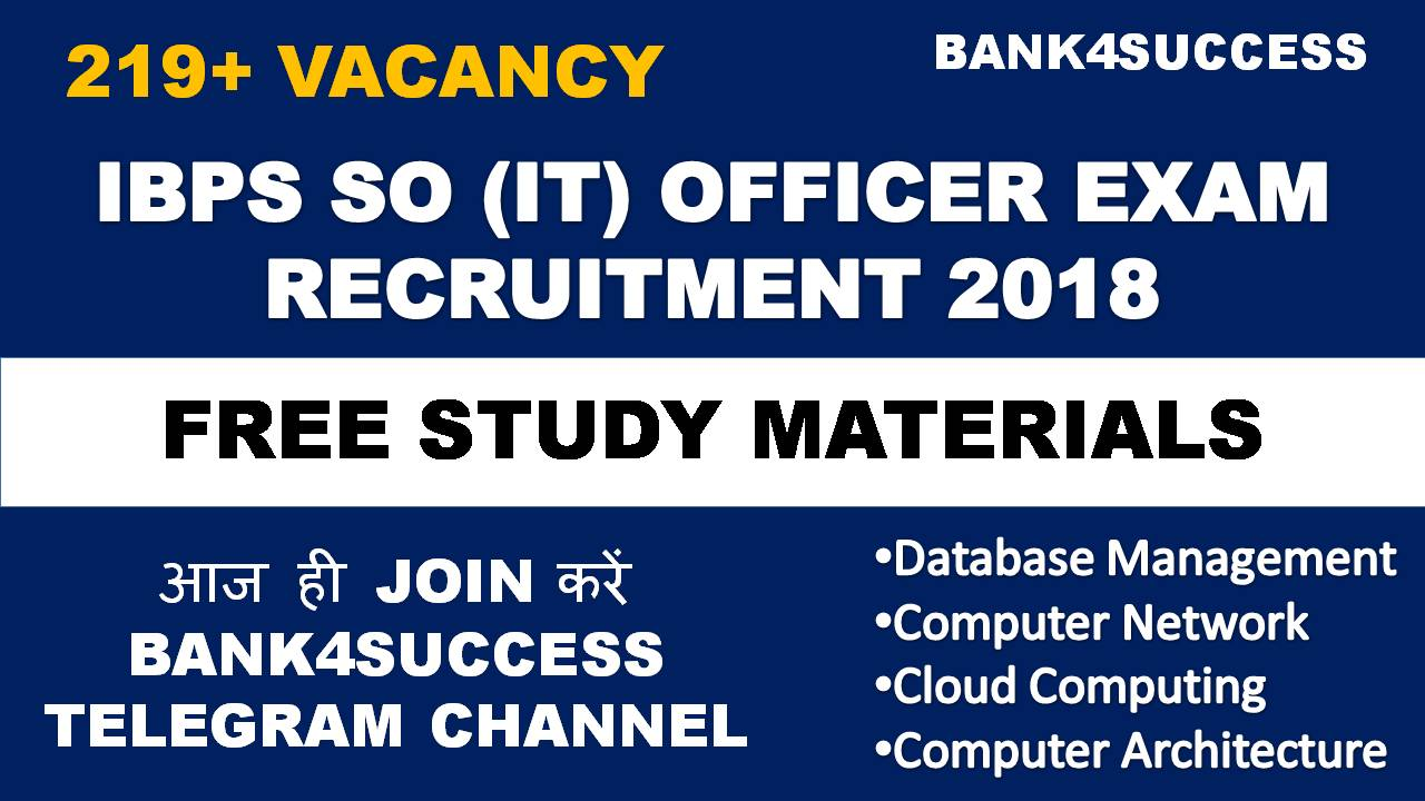 IBPS Specialist Officer Notification Vacancies. Apply now