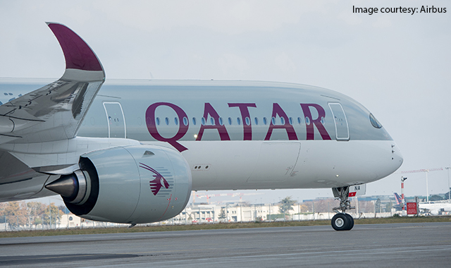 Airbus delivers wide body airliner A350-1000 to Qatar Airways