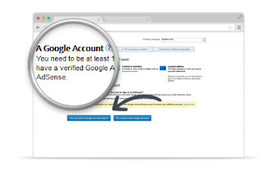 LOGIN WITH YOUR GOOGLE ADSENSE ACCOUNT