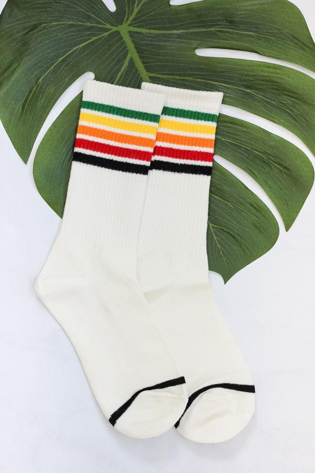 Meias tumblr, rosegal, meia do bob esponja, meia com listras coloridas