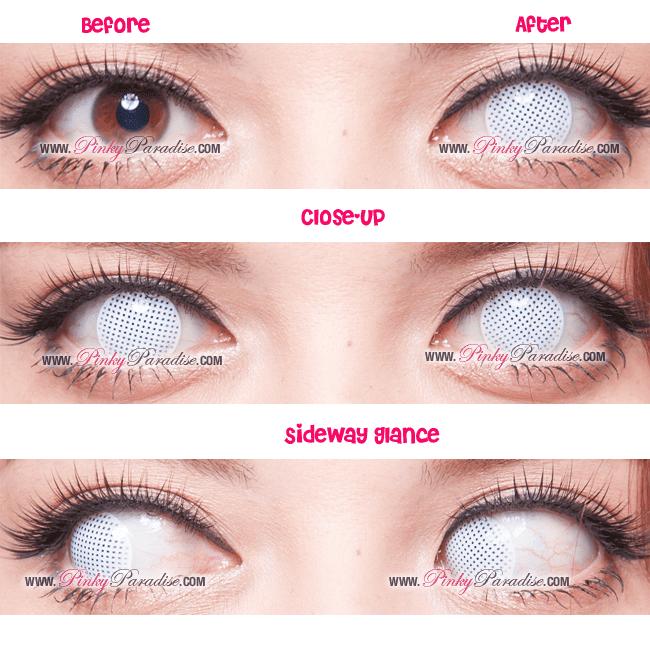 Princess Pinky Cosplay White Mesh Close-up
