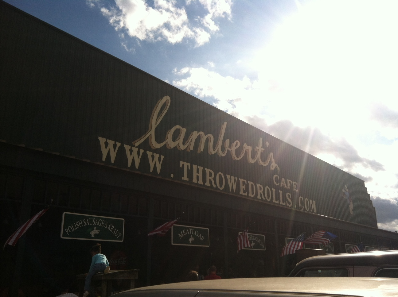 Home Of The Throwed Rolls Good Food Too Lambert S Cafe