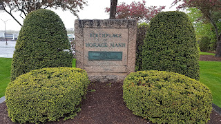 Horace Mann birthplace monument in Franklin
