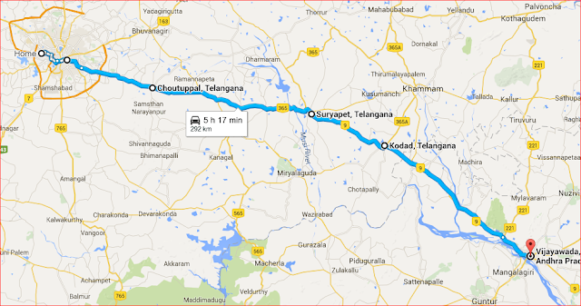 route map to Vijayawada