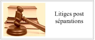 Litiges post séparation