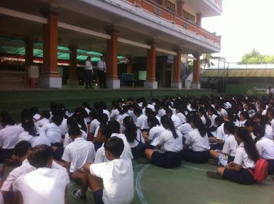 Kunjungan SMK TI Bali Global Denpasar ke SMP Negeri 3 Abiansemal, Kab. Badung