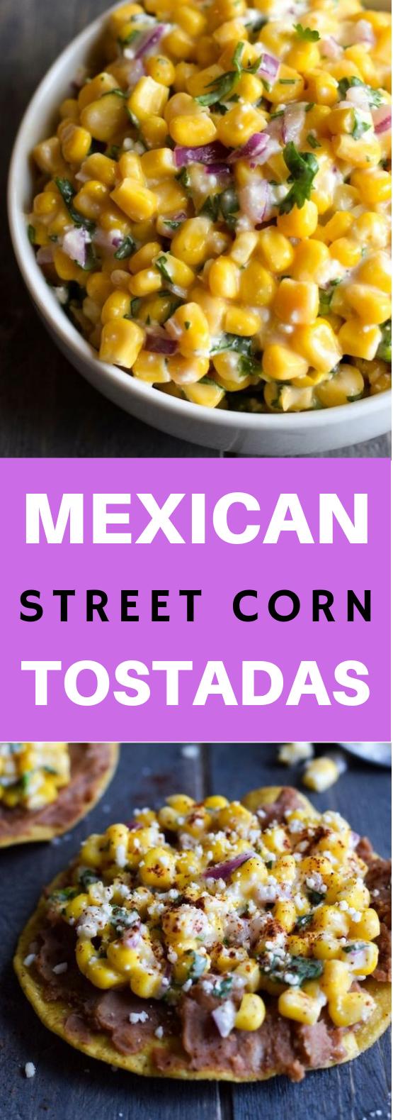 Mexican Street Corn Tostadas #Vegetarian #Healthyfood