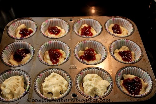 muffins with jam centers
