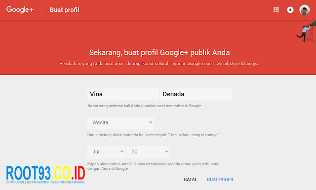 membuat profil Google+