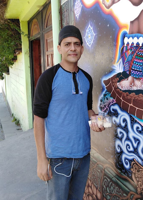 "Artist Glen David Colom Maldonado painting ""Pachamama"" wall art"