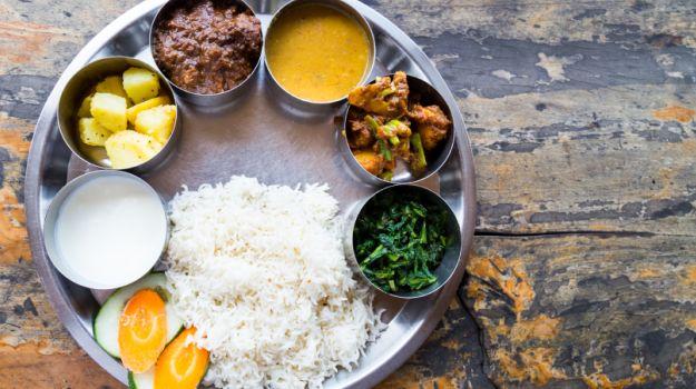 indian food maharashtrian thali trickdump