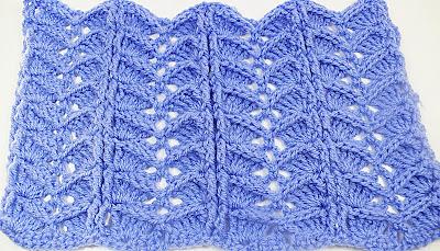 1 Crochet.Imagen puntada a crochet para la cobija a relieve.Majovel Crochet Ganchillo