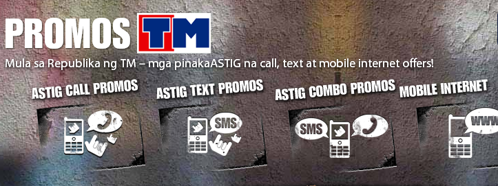 TM Astig List of Unlimited Call, Text, Combo and Text to other / All Networks Mobile Promo