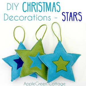 Felt Star Christmas Ornaments