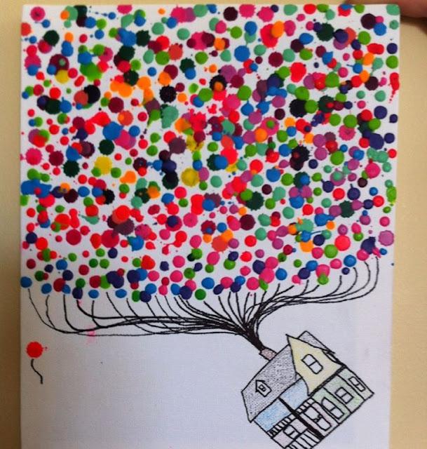 Melted Crayon Art (with a hot glue gun)