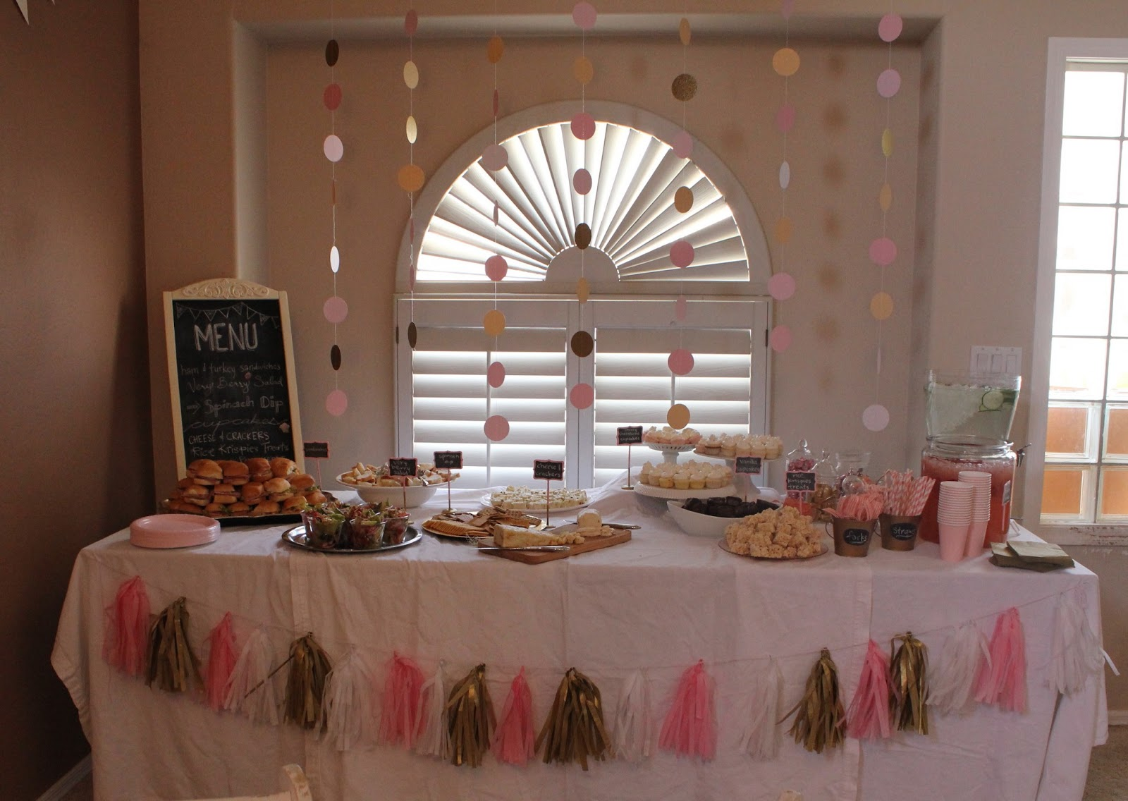 Goodie Goodies Pink amp Gold Baby Shower