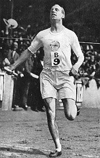 Eric Liddell running in Olympics