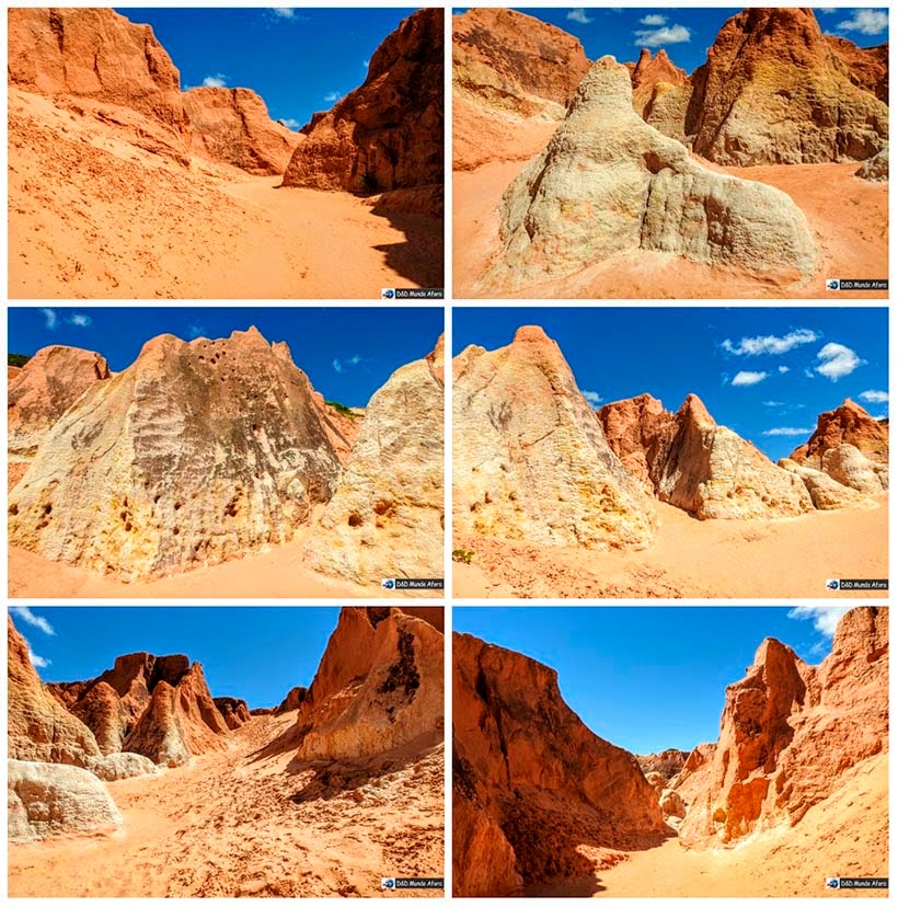 Labirinto de falésias coloridas de Morro Branco e Praia das Fontes - Tour 3 Praias