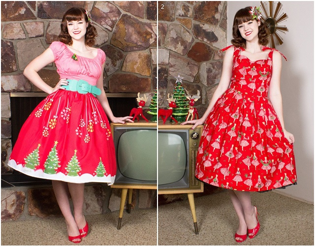 I really like this pretty Christmas jumper, and these fifties-style head  scarves from The Oblong Box Shop. The prints and patterns are perfect. - Wednesday Wish List: Christmas Special Polka Spots And Freckle Dots