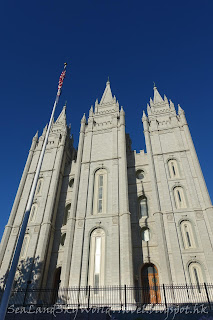 鹽湖城, 聖殿廣場, Temple Square, salt lake city, Salt Lake Temple, 鹽湖聖殿
