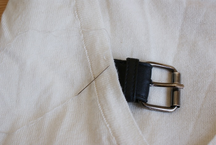 diy belt sweater sew