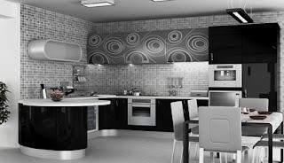Diseño de cocina negra