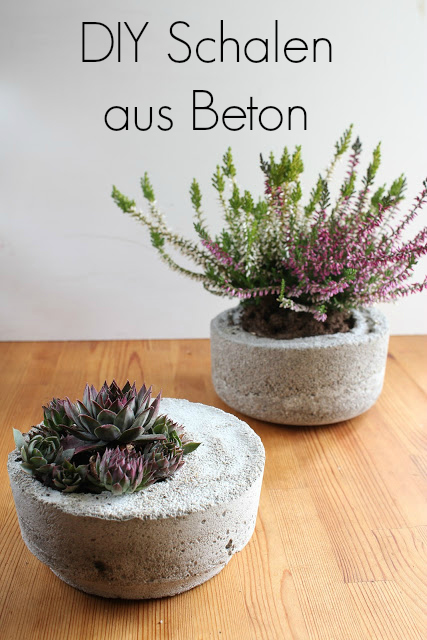 diy schalen aus beton green bird diy mode deko und. Black Bedroom Furniture Sets. Home Design Ideas