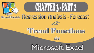 Regression Analysis Using The Forecast And Trend Functions