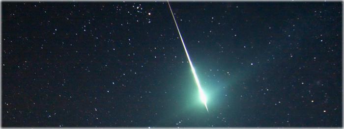 chuva de meteoros Geminidas  - dezembro de 2017