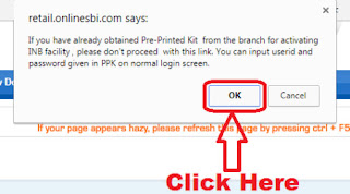 how to activate sbi online banking first time