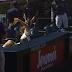 Padres fan falls on his back, spills beer