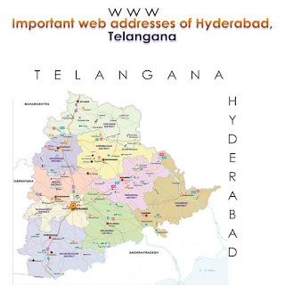 Important web addresses of Hyderabad, Telangana