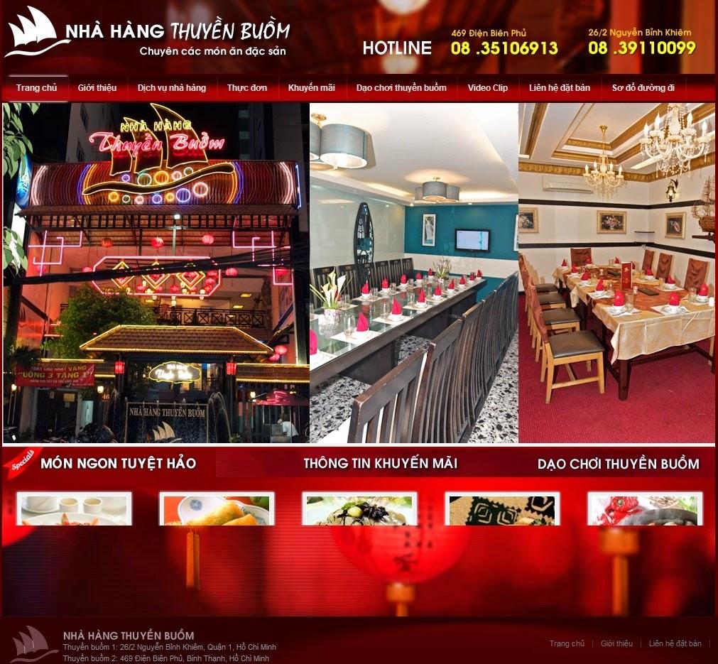 dịch vụ thiết kế website nhà hàng