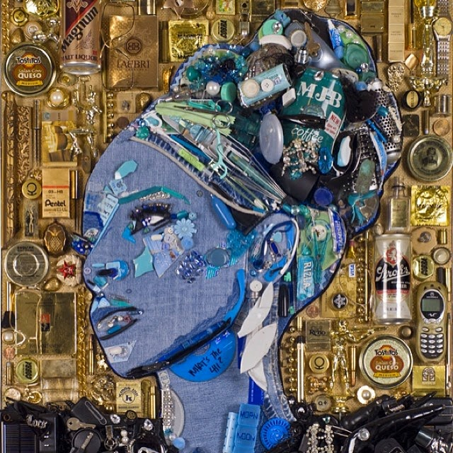 16-Mary-J-Blige-Jason-Mecier-Paintings-or-Sculptures-in-Portrait-Collage-www-designstack-co