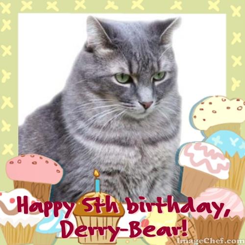 Birthday Orange Cat: Tabby Cat Club: Happy Birthday, Derry