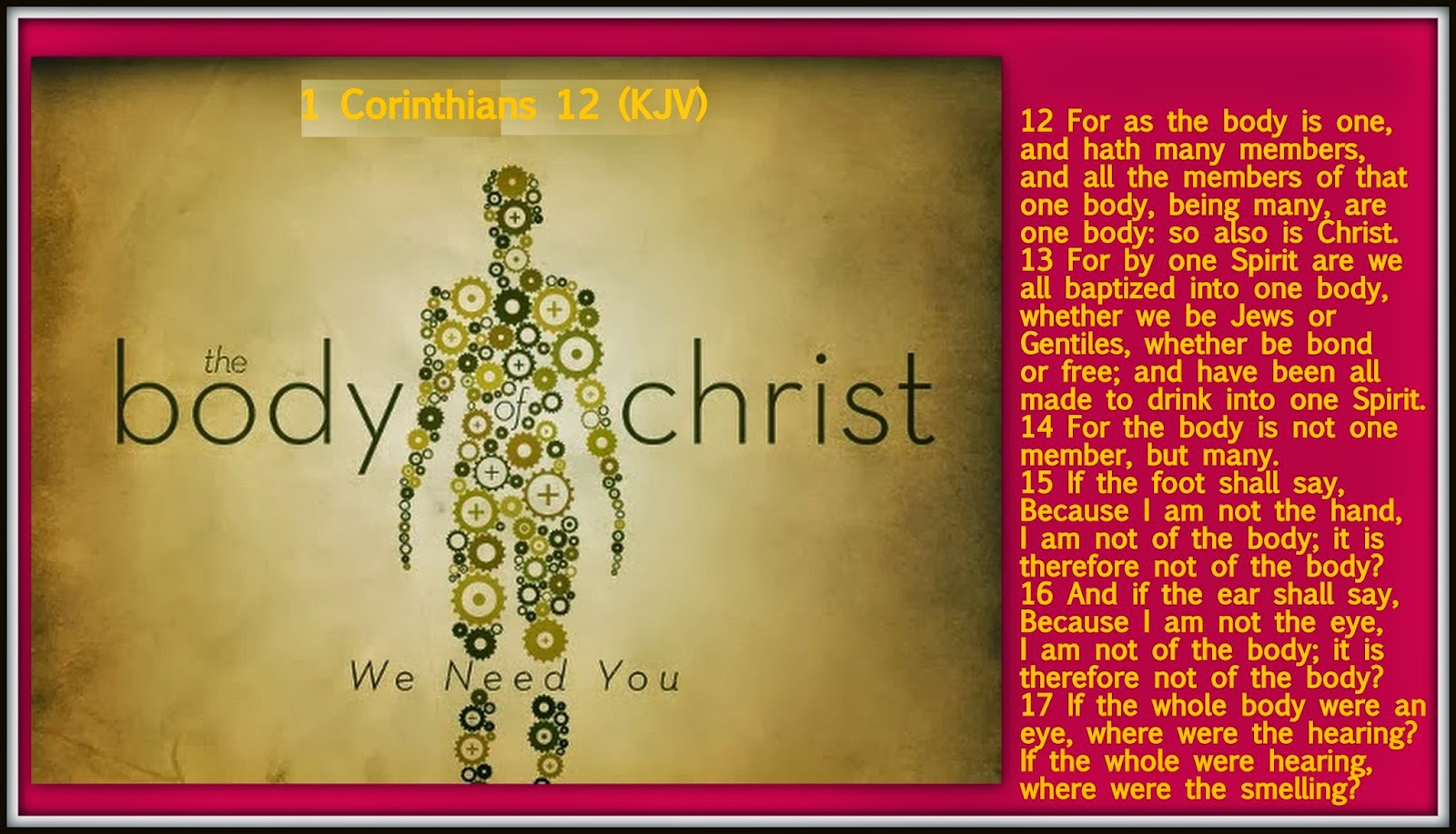 This Christmas Love 1 Corinthians 12 31: Red Pill Diaries: 1 Corinthians 12 (KJV