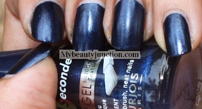 Bourjois 1 seconde silicone gel nail polish 16 Bleu Moonlight swatch and review
